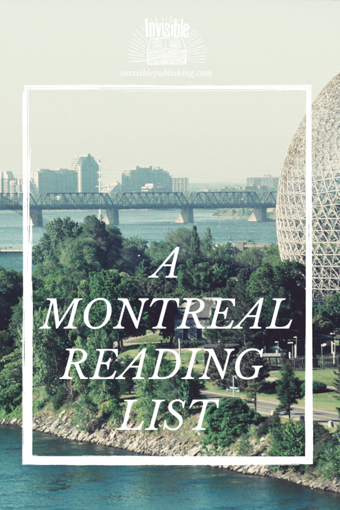 Recommended reads set in Montreal pinterest image