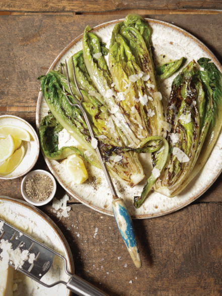 Grilled Little Gem Romaine recipe photo