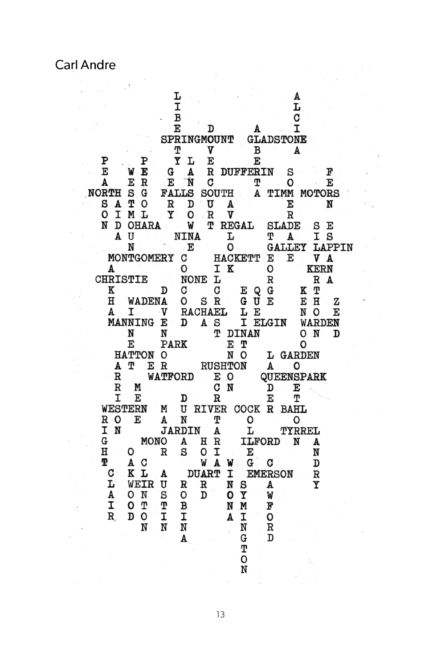Carl Andrew from OO: Typewriter Poems text.