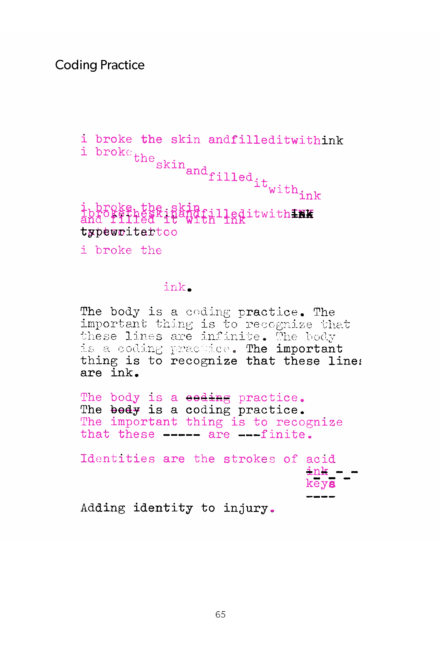 Coding Practice from OO: Typewriter Poems text.