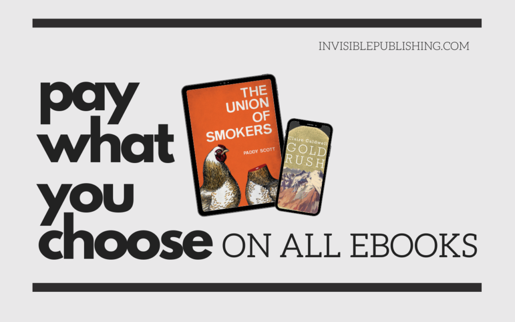 Pay what you choose on all ebooks